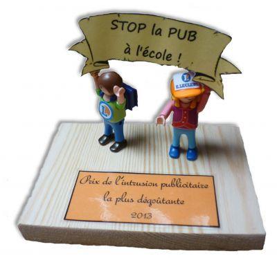 Prix Stop Pub Ecole 2013